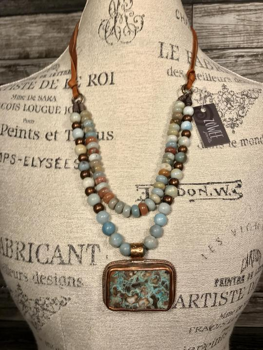 Zowee Amazonite Layered Necklace