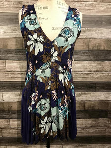 Free People Floral Dress in Blue