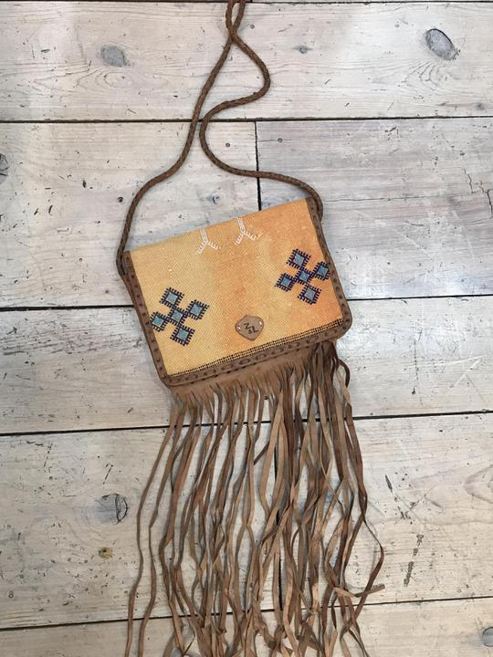 Z&L Kilim Leather Fringe Crossbody