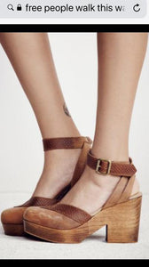Free People Walk This Way Clog in Brown