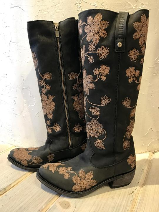 Liberty Flower Embroidered Boot