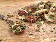 Close up of loose herbs for Detox Tea