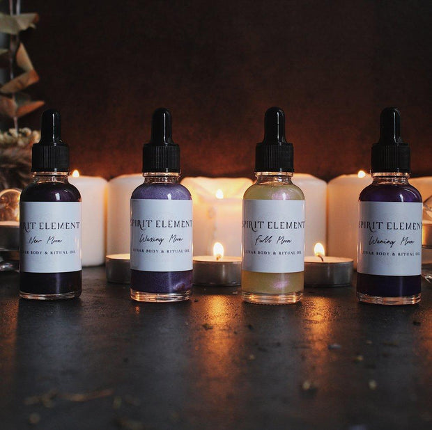 Phases of the Moon Bath and Body Ritual Oil // Spirit Element
