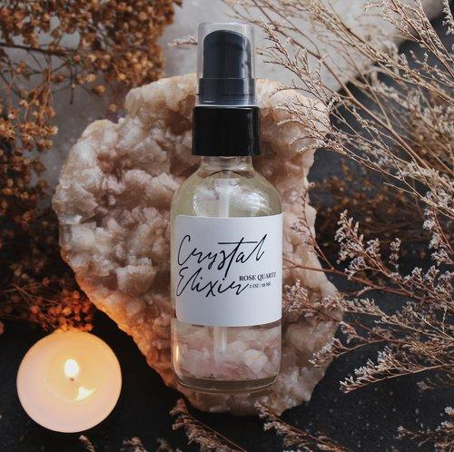 Crystal Elixir Body Oil Rose Quartz // Spirit Element