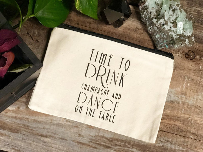 Drink Champagne Small Canvas Bag