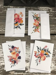 Floral Note Card Set