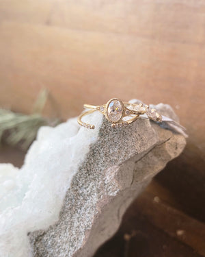 DIAMOND OVAL DECO RING