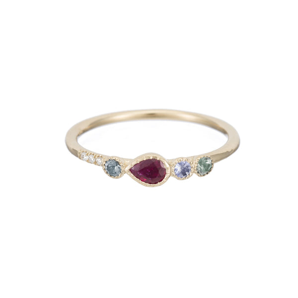 RUBY TEARDROP DIAMOND RING