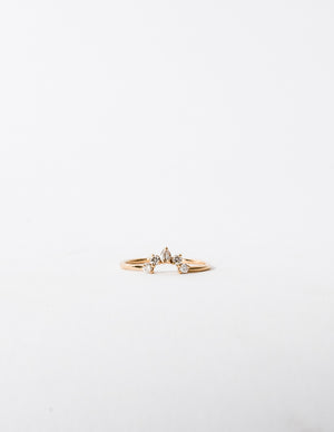 PETITE DIAMOND ARC RING