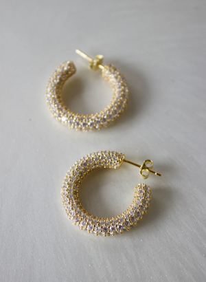 PAVE DRAMA HOOPS