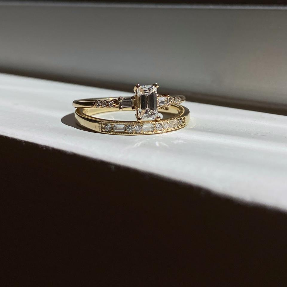 Emerald Cut Sapphire Melody Ring // Jennie Kwon w Lane & Kate