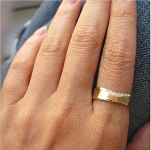 WHITE DIAMOND TRAIL 6MM RING