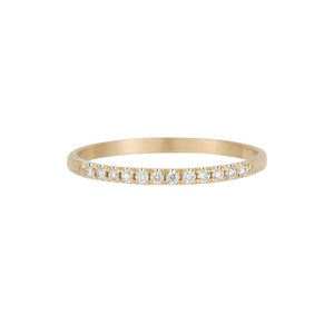 HALF ROUND SEMI PAVE BAND