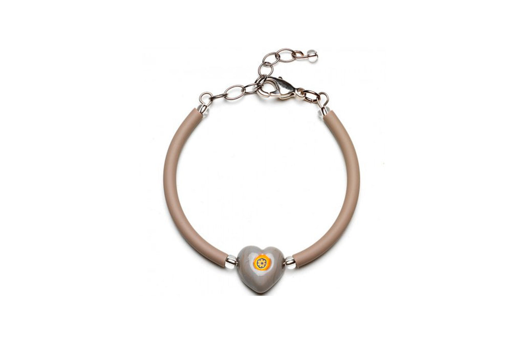 Pulsera Gris Lovey Antica Murrina