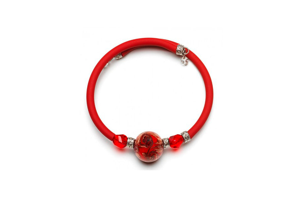Pulsera Roja Wellie Antica Murrina