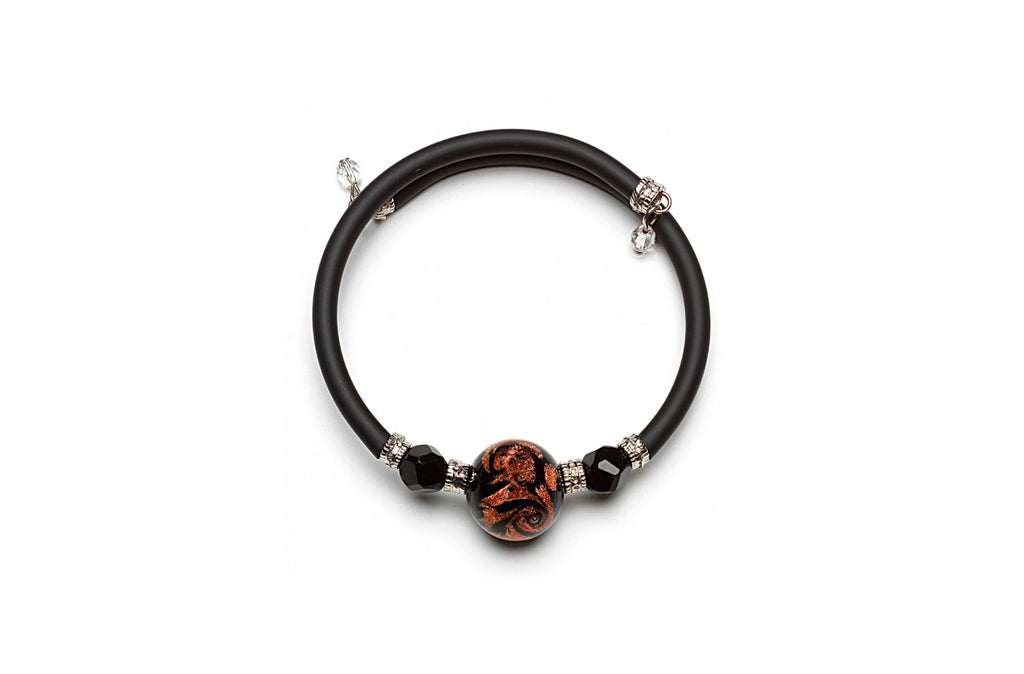 Pulsera Negra Wellie Antica Murrina