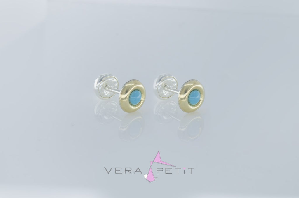 Aretes Donut Color Bebé