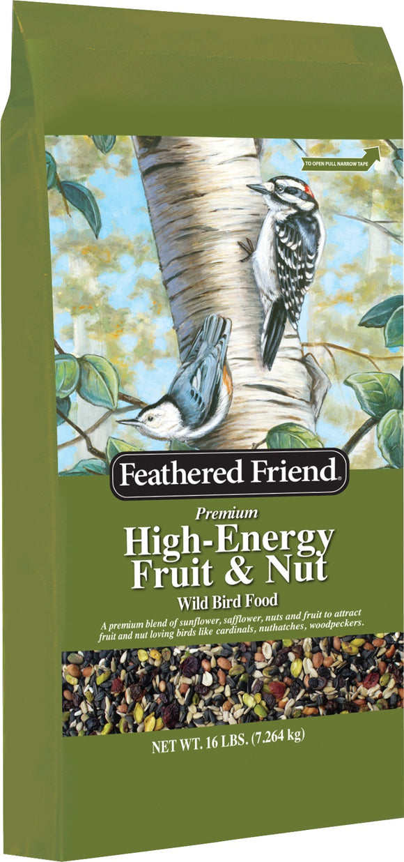Feathered Friend Premium High-energy Fruit & Nut Wild Bird Food 16lb (In Store Purchase Only)