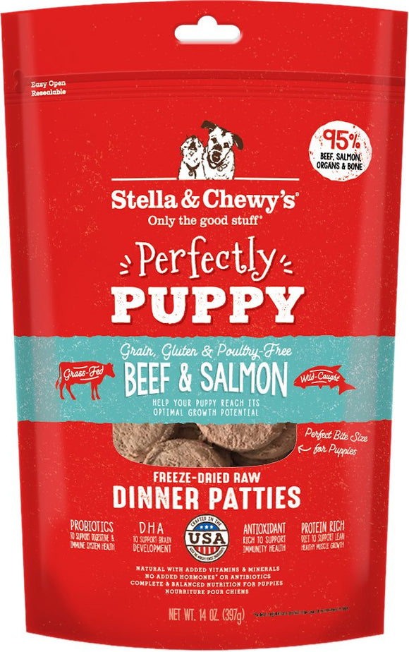 Stella & Chewy's - Perfectly Puppy Beef & Salmon Freeze-Dried Dinner Patties
