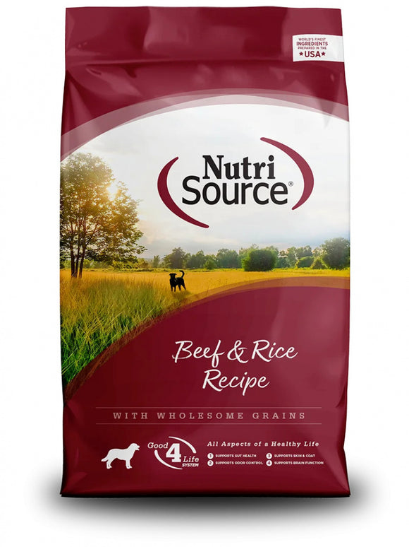 NutriSource - Beef & Rice Dry Dog Food