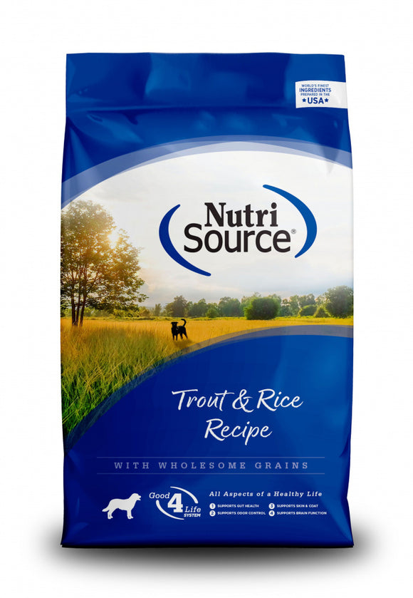 Nutri Source - Trout & Rice Dry Dog Food