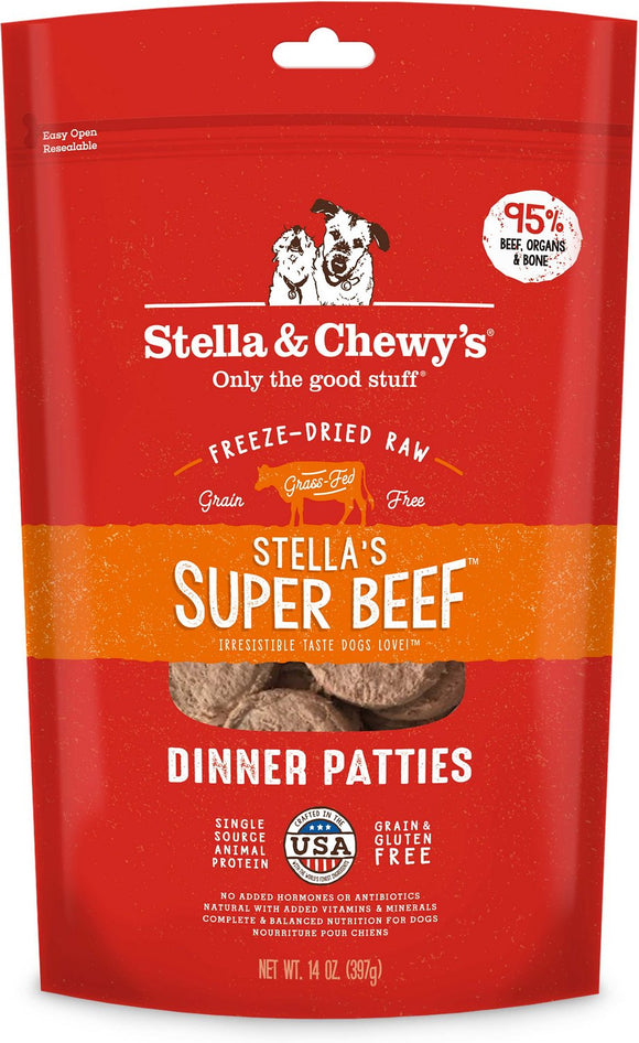 Stella & Chewy's - Super Beef Freeze-Dried Dinner Patties
