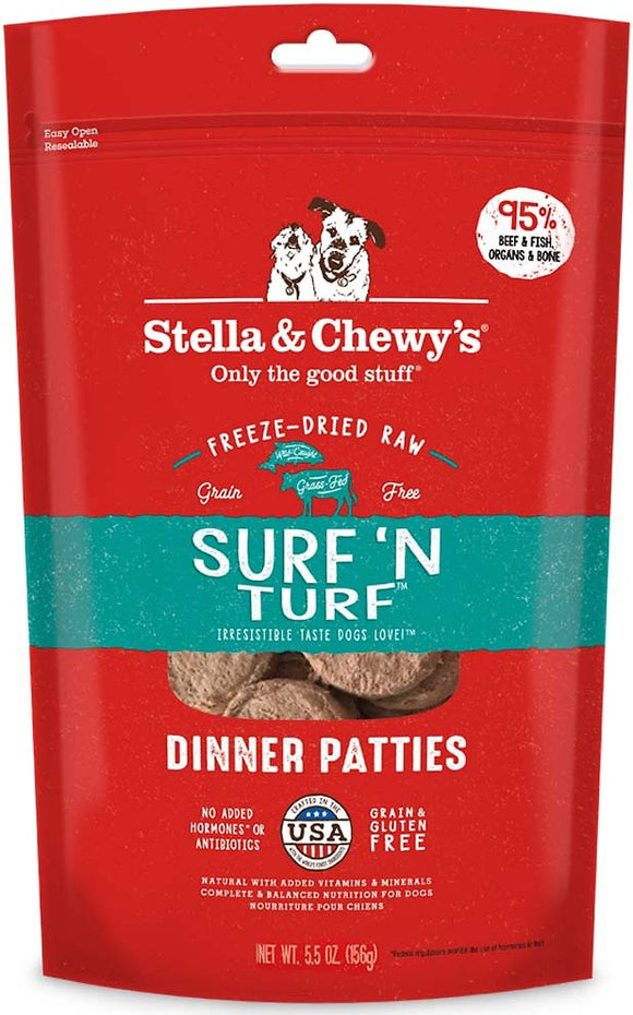 Stella & Chewy's - Surf 'N Turf Freeze-Dried Dinner Patties