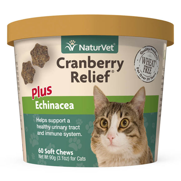 NaturVet Cranberry Relief Soft Chews for Cats