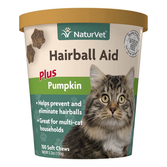 NaturVet Hairball Aid Soft Chews