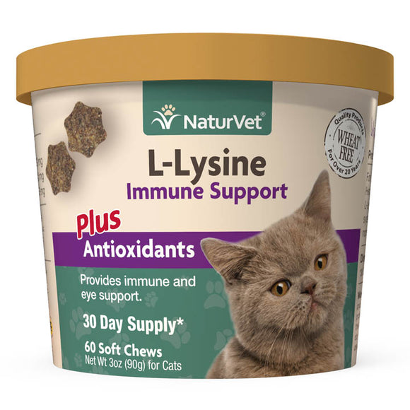NaturVet L-Lysine Immune Support Soft Chews for Cats