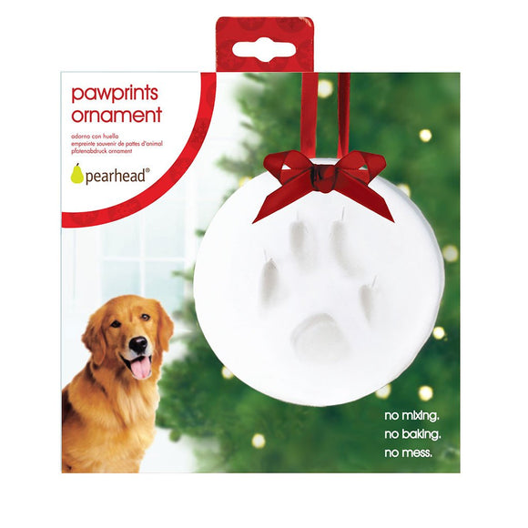 Pearhead Pawprints Ornament