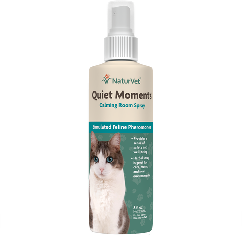 NaturVet Quiet Moments Calming Room Spray for Cats