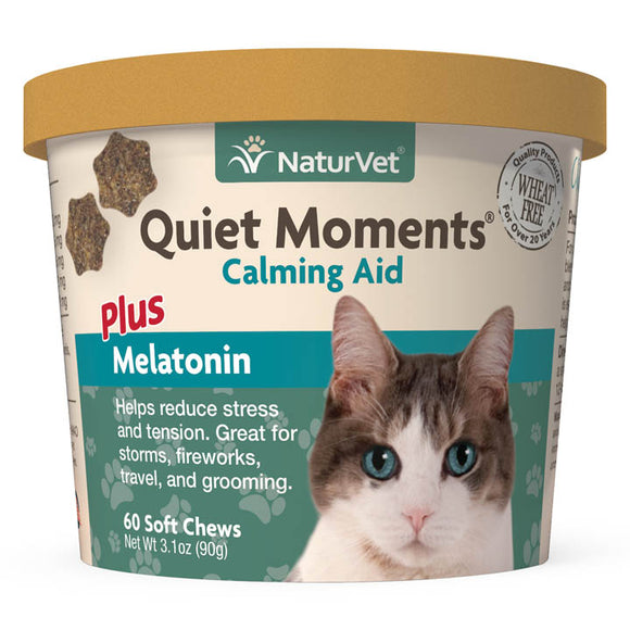 NaturVet Quiet Moments Calming Aid Soft Chews for Cats