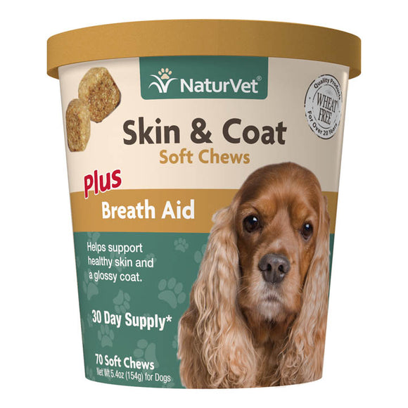 NaturVet Skin & Coat Soft Chews