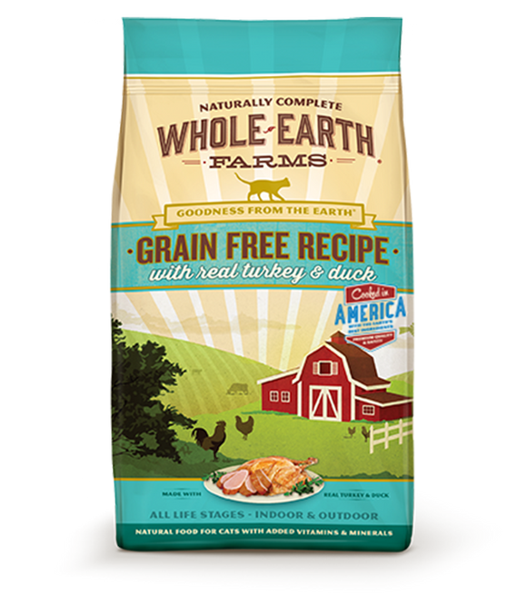 Whole Earth Farms - Turkey & Duck Grain Free Dry Cat Food