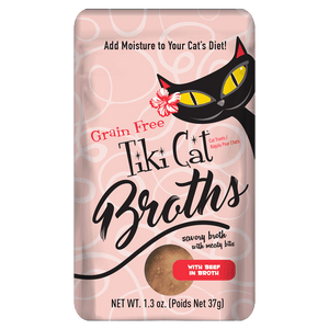 Tiki Cat Broths with Beef