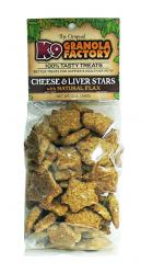 K9 Granola Factory Cheese and Liver Stars - 12 oz.