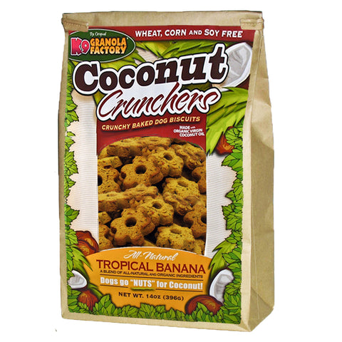 K9 GRANOLA FACTORY Coconut Crunchers Tropical Banana