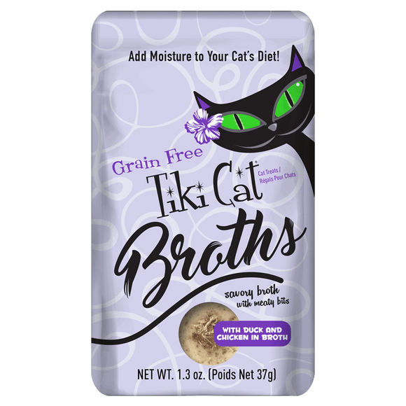 Tiki Cat Broths with Duck and Chicken