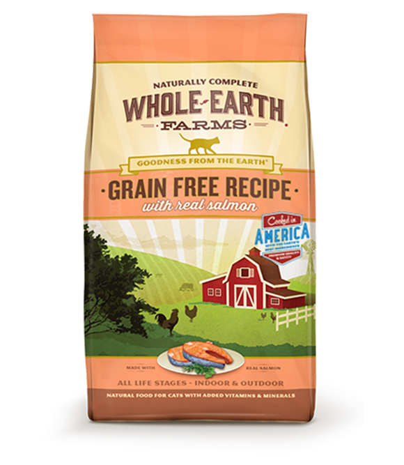Whole Earth Farms - Salmon Recipe Grain Free Dry Cat Food