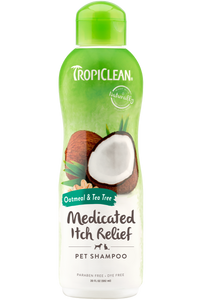 TropiClean - Oatmeal & Tea Tree Medicated Itch Relief Shampoo