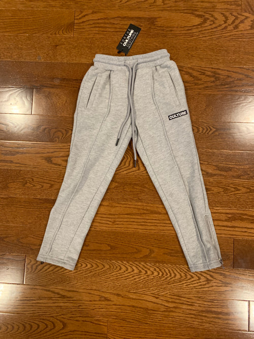 Pleated Block Culture Slim Fit Unisex Kids Joggers