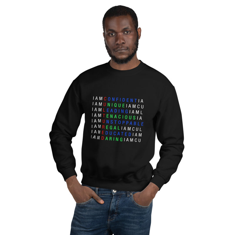 I AM C.U.L.T.U.R.E.D.  Crossword Awareness Unisex Sweatshirt