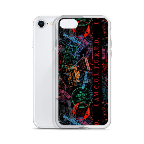 IAC Stamp Collector Liquid Glitter i-Phone Case