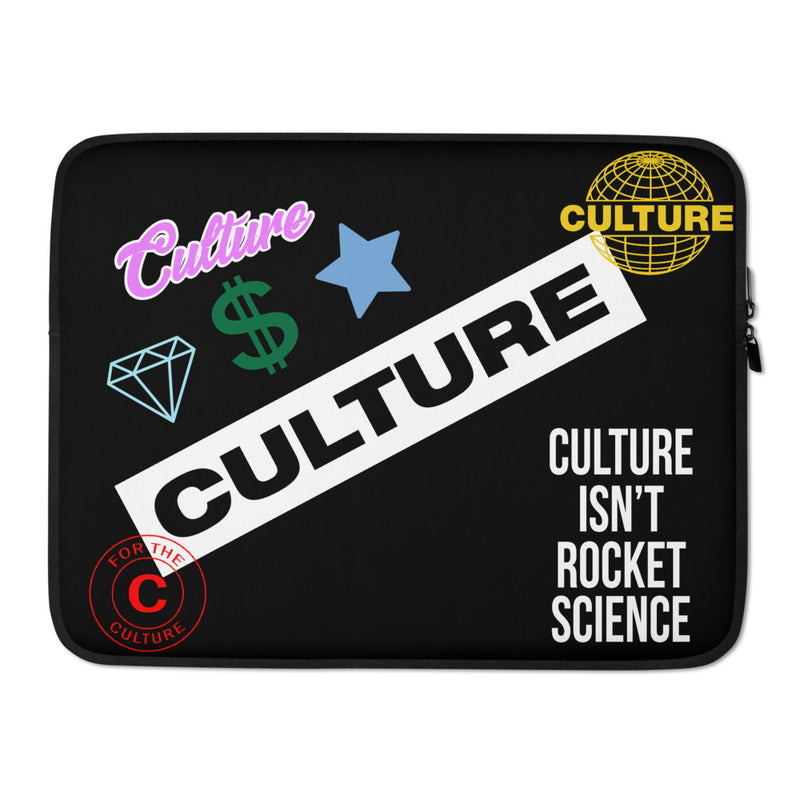 For The Culture Logo Laptop Sleeve