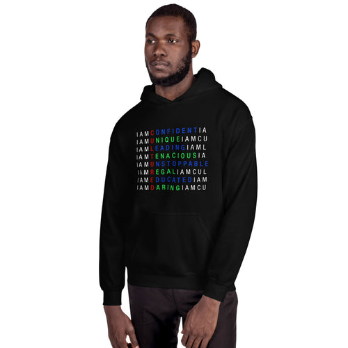I AM C.U.L.T.U.R.E.D.  Crossword Awareness Hoodie
