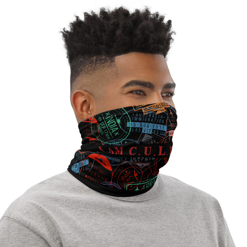 I AM C.U.L.T.U.R.E.D. Stamp Collector Neck Gaiter