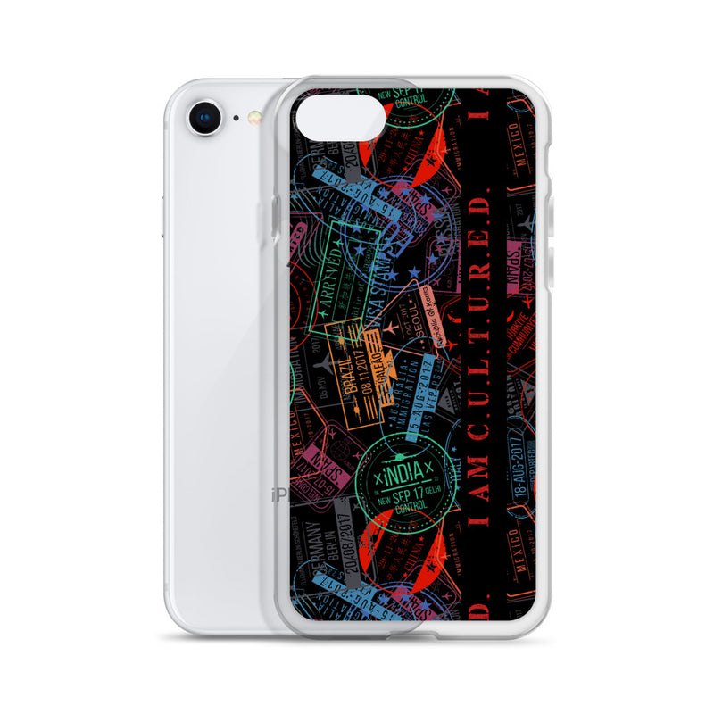 I AM C.U.L.T.U.R.E.D. Stamp Collector iPhone Case