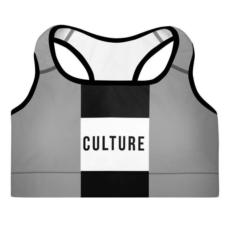 Culture Fit Double Stripe Padded Sports Bra