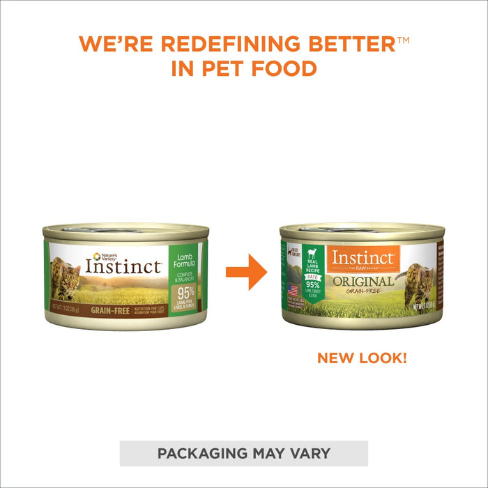 Nature's Variety Instinct Grain-Free Lamb Formula Canned Cat Food